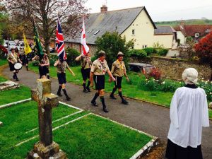 St Georges Day Scout Parade